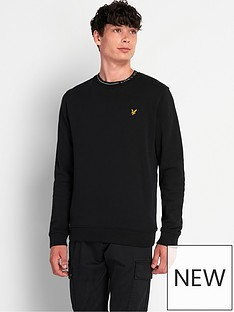 lyle-scott-branded-ringer-sweatshirt-blacknbsp