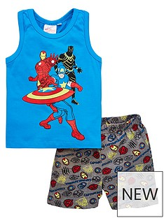 the-avengers-boys-marvelnbspvest-and-short-pjs-blue