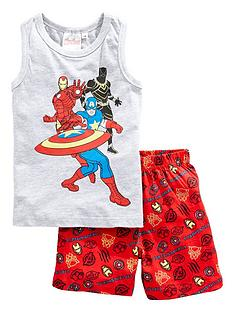 the-avengers-boys-marvel-avengers-vest-and-short-pjs-greymulti