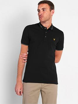 lyle-scott-branded-collar-polo-shirt-blacknbsp