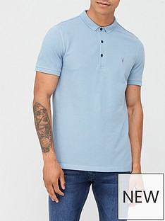 allsaints-reform-pique-polo-shirt-blue