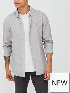 allsaints-woodrow-mini-check-shirt-grey-white