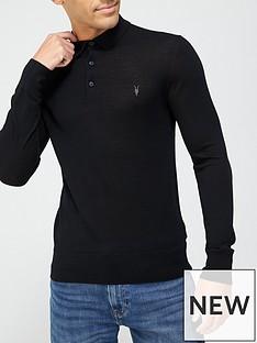 allsaints-mode-merino-long-sleeve-knitted-polo-shirt-black