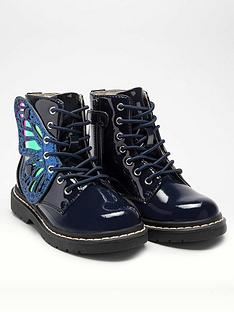 lelli-kelly-girlsnbspfairy-wings-ankle-boot-navy-patent
