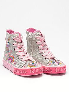 lelli-kelly-girlsnbspabigail-unicorn-mid-high-top-silver