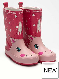 lelli-kelly-girlsnbsphollee-unicorn-wellington-boot-pink