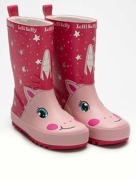 lelli-kelly-girlsnbsphollee-unicorn-wellington-boot-pink