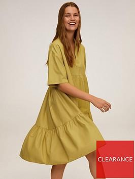 mango-basic-swing-dress-green