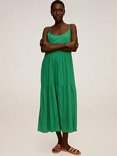 mango-midi-smock-dress-green
