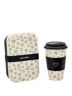 mickey-mouse-bamboo-travel-mug-and-lunch-box-set