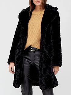 v-by-very-faux-fur-texture-coat-black