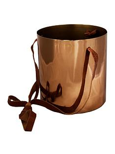 ivyline-copper-hanging-planter-with-leather-strap