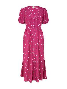 monsoon-spot-print-sustainable-midi-dress-pinknbsp