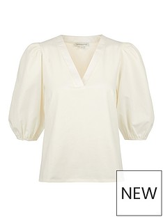monsoon-pia-poplin-jersey-mix-v-neck-top-ivory