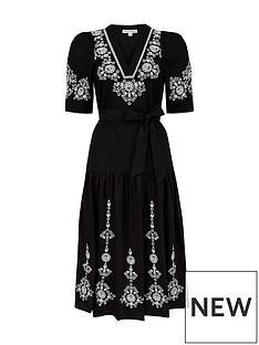 monsoon-enya-embroidered-dress-black