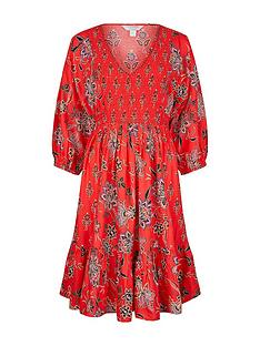 monsoon-floral-print-sustainable-viscose-dress-red