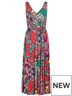 monsoon-carolyn-scarf-print-midi-dress-pink