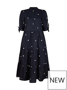 monsoon-organic-cotton-poplin-spot-dress-navy
