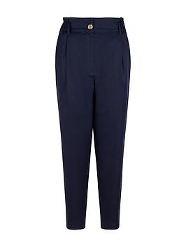 Monsoon Sustainable Tapered Trouser - Navy