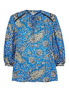 monsoon-paisley-print-sustainable-top-blue