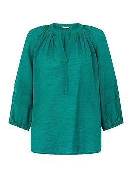 monsoon-allie-linen-gauze-top-green