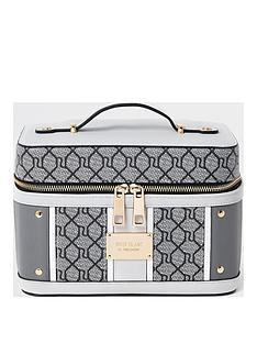 river-island-grey-mono-vanity-case