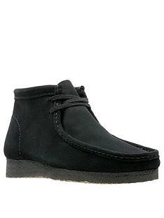 clarks-originals-mensnbspsuede-wallabee-boots-black