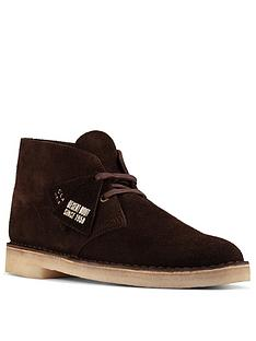 clarks-oakland-top-nubuck-boots-dark-brown