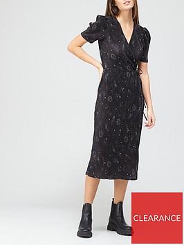 v-by-very-plisse-short-sleeve-wrap-midi-blackprintnbsp
