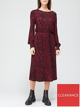 v-by-very-shirred-cuff-long-sleevenbspmidi-dress-red-animal