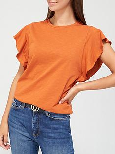 v-by-very-frill-sleeve-t-shirt