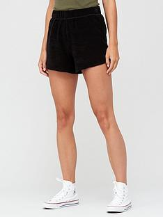 v-by-very-split-side-towelling-jogger-shorts-black