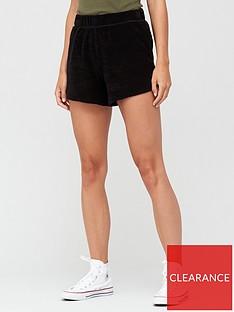 v-by-very-split-side-towelling-jogger-shorts-black