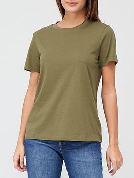 V By Very The Basic Crew Neck T-Shirt - Khaki