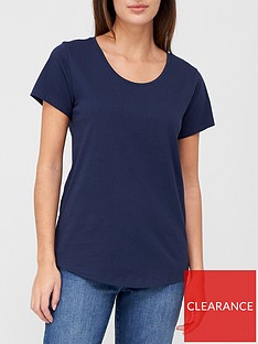 v-by-very-the-basic-scoop-neck-t-shirt-navy