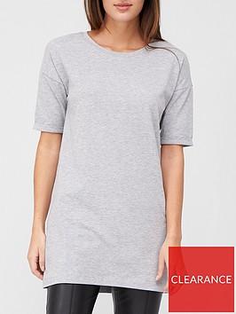 v-by-very-shortnbspsleeve-tunic-grey-marl