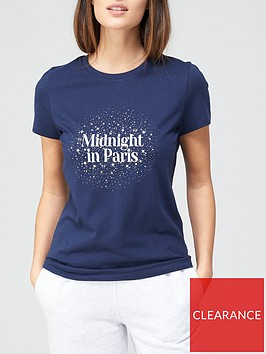 v-by-very-the-front-print-slogan-t-shirt-navy