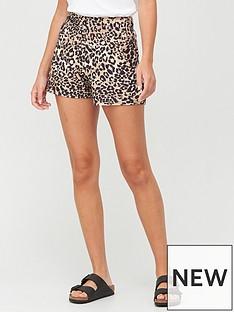 v-by-very-shirred-waist-shorts-animal