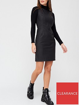 v-by-very-faux-leather-sleeveless-shift-dress-black