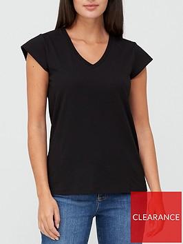 v-by-very-v-neck-side-seam-t-shirt-black