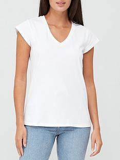 v-by-very-v-neck-side-seam-t-shirt-white