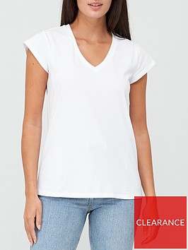 v-by-very-v-neck-side-seam-t-shirt-white