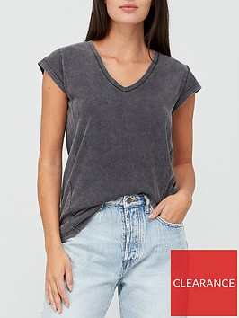 v-by-very-v-neck-side-seam-t-shirt-grey-marl