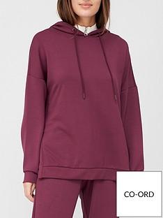 v-by-very-premium-split-side-hoodie-aubergine
