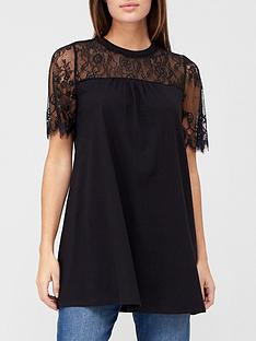 v-by-very-lace-yoke-short-sleeve-tunic-black