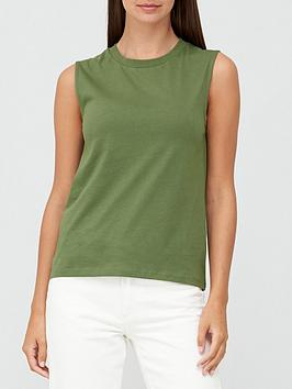 v-by-very-sleeveless-t-shirt-khaki