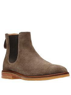 clarks-clarkdale-gobi-suede-chelsea-boots-burgundy