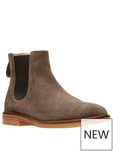 clarks-clarkdale-gobi-suede-chelsea-boots-burgundy