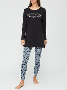 v-by-very-new-york-longline-t-shirt-and-legging-pyjamas-print
