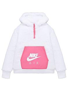 nike-girls-nsw-air-sherpa-half-zipnbsphoodie-white-pink